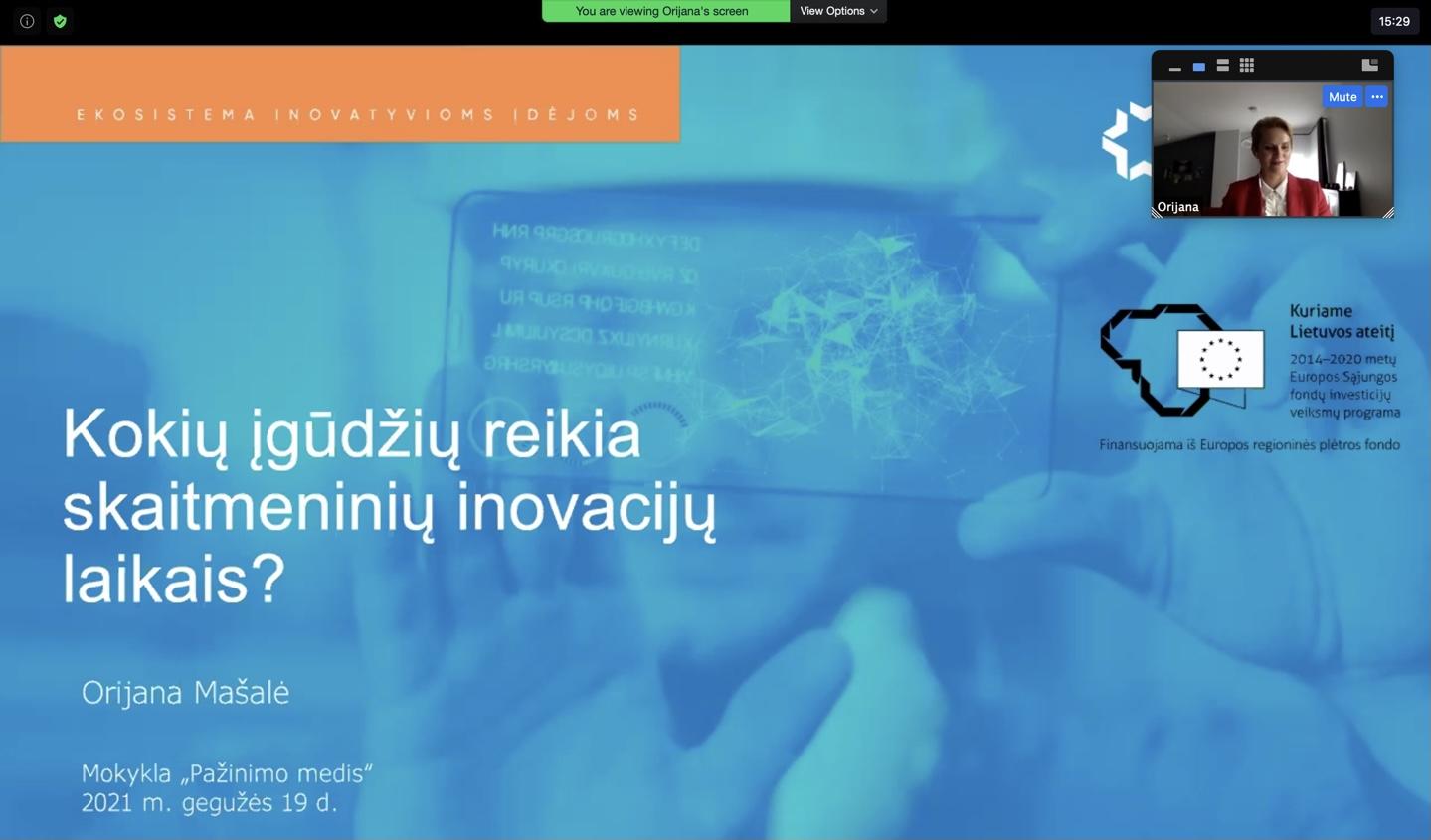 Susitikimai su jaunimu apie profesijas skaitmeninių inovacijų laikais