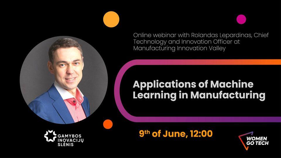 Kviečiame į renginį apie mašininio mokymosi taikymą pramonėje
