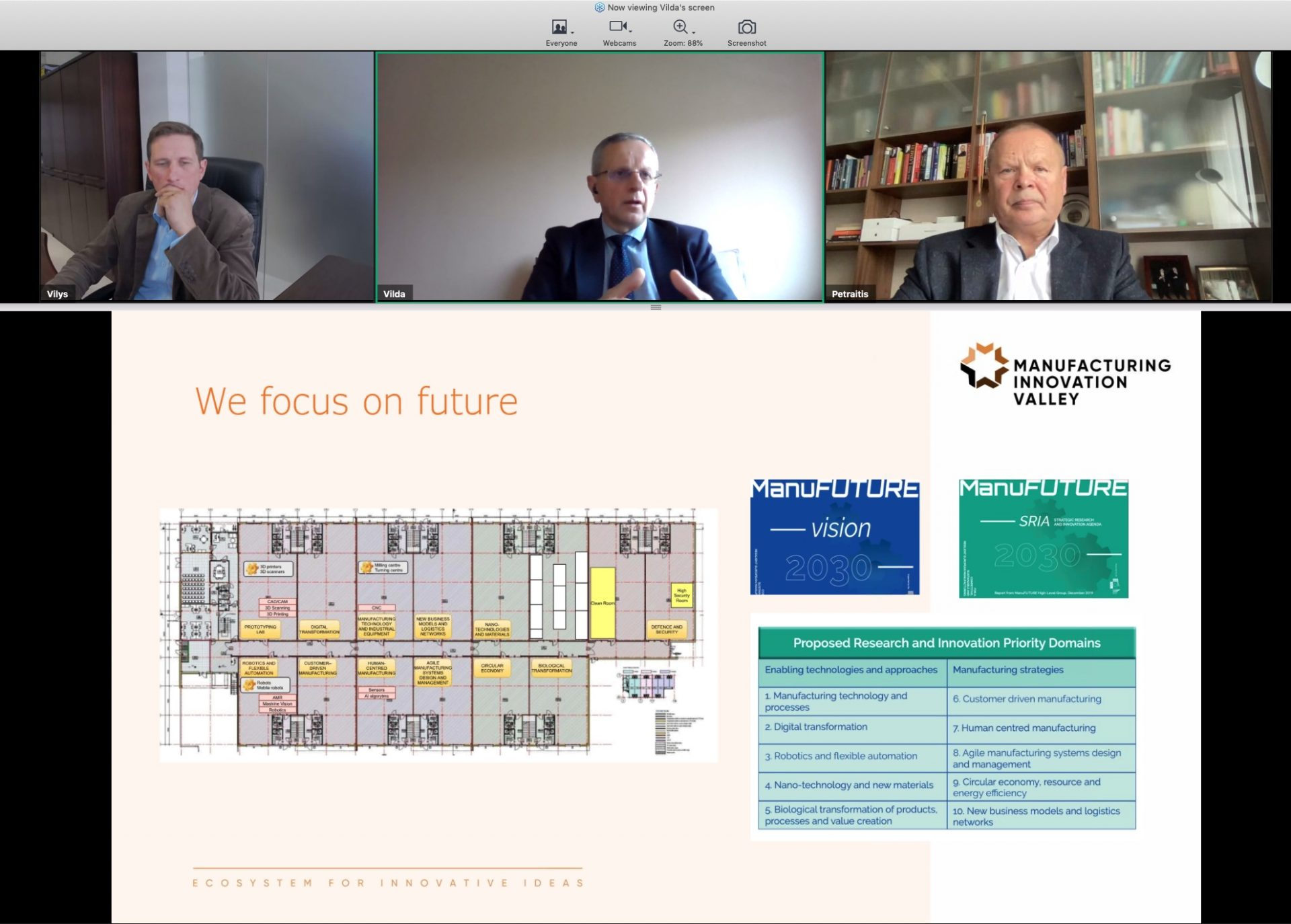 Manufacturing Innovation Valley was presented in I4MS webinar